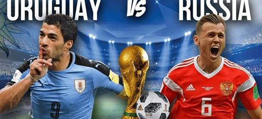 موعد مباراة روسيا وأوروجواي يوم الإثنين في كأس العالم 2018 والقنوات الناقلة والتشكيل المتوقع