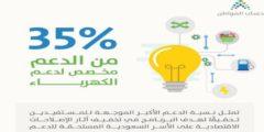 حساب المواطن يدعم المستفيدين بنسبة 35% من إجمالي الدعم المخصص للكهرباء