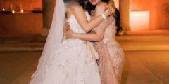 سبب إخفاء لجين عمران وجه ابنتها من صور زفافها