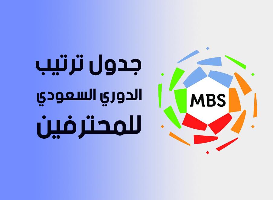 جدول ترتيب الدوري السعودي للمحترفين دوري محمد بن سلمان الجولة