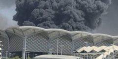 حريق محطة قطار جدة.. إصابة 5 في حريق محطة قطار الحرمين