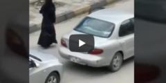 بالفيديو فتاة منتقبة ترقص في شوارع عمان مخترقة حظر التجول