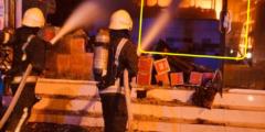 بالصور حريق ضخم في حي مدائن الفهد بجدة