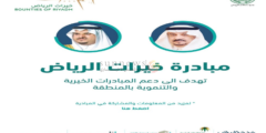 رابط التسجيل في مبادرة خيرات الرياض من خلال موقع جمعية خيرات الرياض khiyrat.org.sa