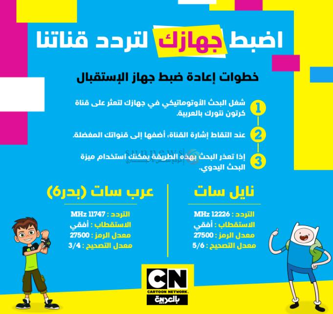 تردد قناة كرتون نتورك بالعربية الجديد