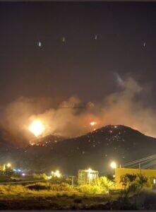حريق جبل عمد, جبل عمد, مكة المكرمة, حريق هائل