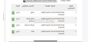 التجنيد الموحد وزارة الدفاع