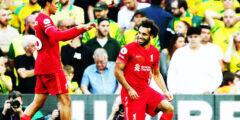 محمد صلاح يحقق لقب جديد في الدوري الانجليزي ويحقق فوز كاسح لنادي ليفربول